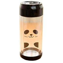 Lovely [Panda] Portable Clear Glass Water Bottle Double Glazing Bottle 230ML image 2