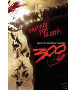 """300 """"Prepare for Glory"""" 24x36 Movie Poster Spartans on Cliff at Thermopy... - $12.86"""