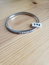 Paparazzi Bracelet(New)Silver W/ Clear Gems 234 - $7.69