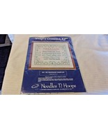 Marriage Sampler Counted Cross Stitch Kit #165 from Needles N Hoops  BNOS - $22.28