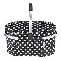 TOMSHOO 30L Foldable Picnic Basket Insulated Storage Shopping Basket Fol... - $34.76