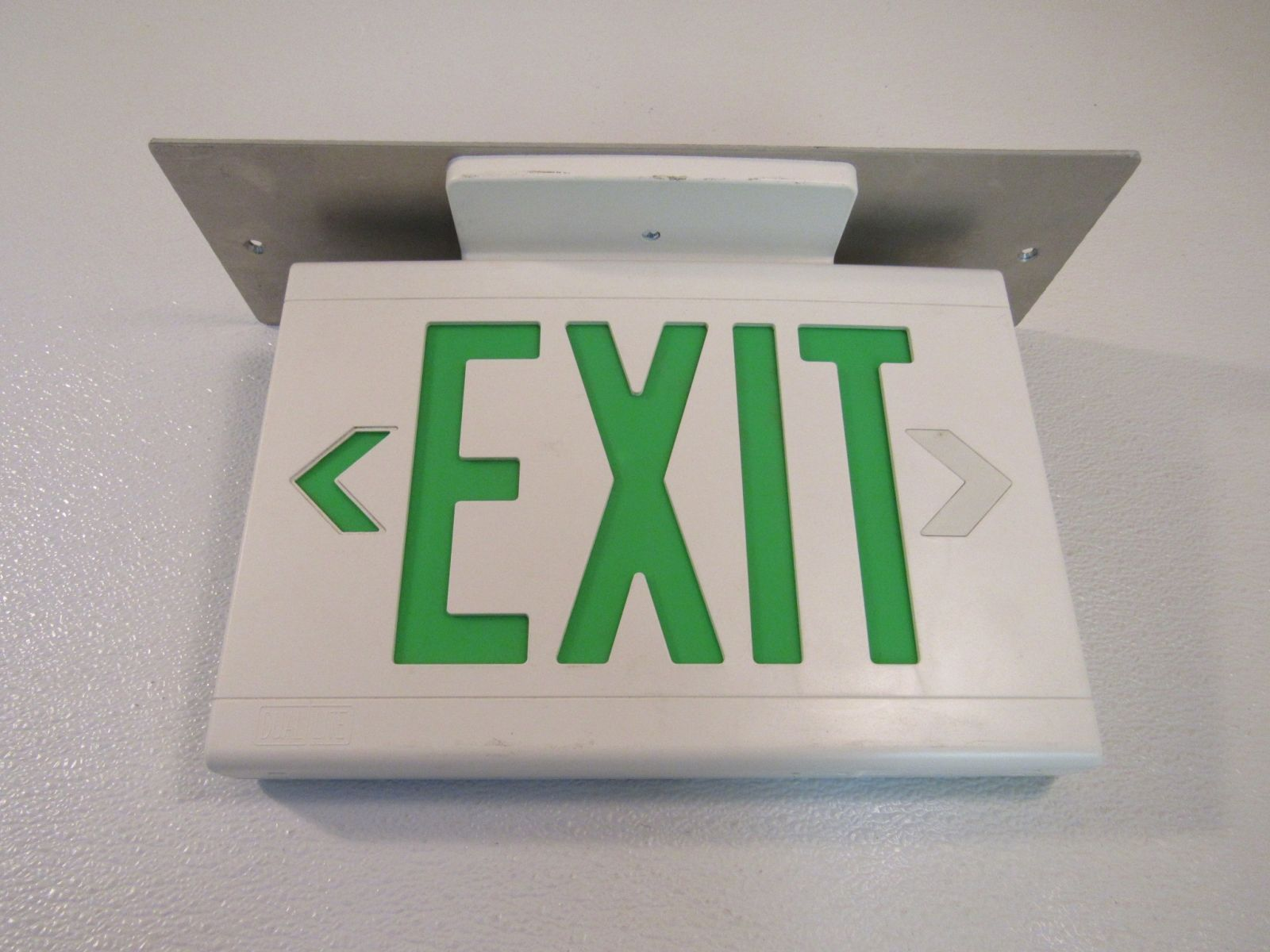 Hubbell Lighted Exit Sign Two Sided 13in x 9in 120 VAC 277 VAC LED LXUGW