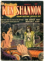 Ken Shannon #3 1952- Reed Crandall- Zombie cover- Golden Age horror VG- - $105.54