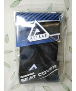 Attack Graphics Motorcycle/ATV Gripper Seat Cover Black - $19.99