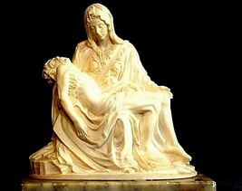 Statue of Jesus on the Lap of His Mother Mary (Italy) AA18-1028 image 5