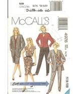McCall's 4976 Misses' Unlined Jacket, Blouse, Skirt & Pants  Size 14-16 ... - $12.47