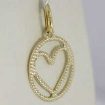 Pendant Gold Yellow or White 750 18k, Heart, finely worked, Made in Italy image 3