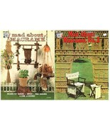 Mad About Macrame No.1 &  2 Instruction Pattern Craft Booklets Both Books! - $14.99