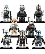 8pcs Clone Force 99/The Bad Batch Echo Captain Rex Cody Star Wars Minifi... - $16.99