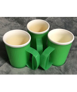 Three Tupperware #3639 Insulated Mugs  - Green - $13.85