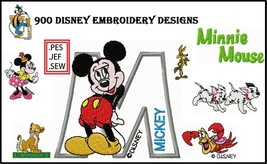 900 Disney Embroidery Machine Disney Pattern Disney Designs (PES, HUS, J... - $19.99
