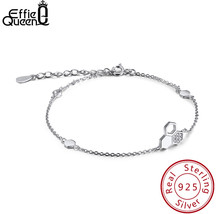 Effie Queen Real Silver 925 Bracelet For Woman Honeycomb Bee With AAA CZ... - $22.91+