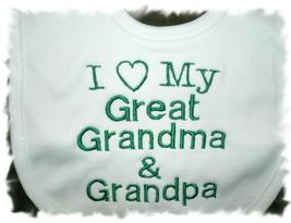 I (heart) My Great Grandma & Grandpa Baby Bib