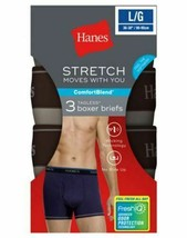 3-Pack Hanes FreshIQ Men's ComfortBlend Stretch Boxer Briefs - Assorted ... - $18.99