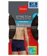 3-Pack Hanes FreshIQ Men's ComfortBlend Stretch Boxer Briefs - Assorted ... - $18.99
