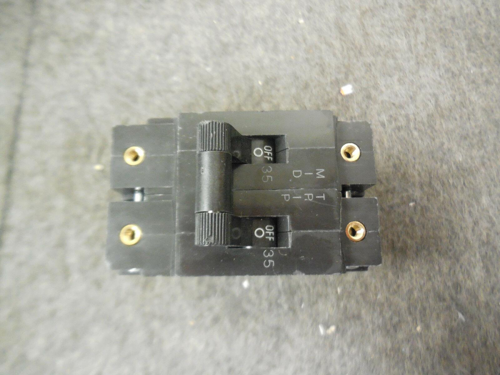 Heinemann Eaton Circuit Breaker AM2S-Z1072-3W 2P 35 AMP 80VDC 10234799