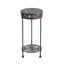 Indoor Outdoor Plant Stand, Iron Round Garden Modern Patio Plant Decorat... - $195.22