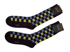 Alfani Men's Socks 2-Pair Value Pack Navy with Green and Blue Plaid $15.96 - $6.38