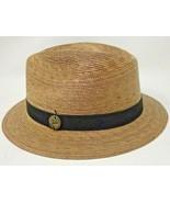 Tula Hats Austin, Texas Unisex Memphis Fedora Hand Woven Palm Hat Sz XL ... - $37.39