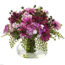 Large Mixed Silk Pink Daisey Artificial Floral Flower Arrangement w/ Vase - $76.99