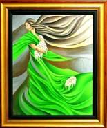 """Noel Suarez-""""Primavera""""-Framed Ltd Ed Mixed-Media Hand Embellished Gicle... - $707.75"""