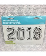 2018 Silver Foil Balloons 38 x 13.5 in Graduation Photo Shoot Anniversar... - $8.59