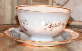 "Gravy Dish Soup Bowl Rosenthal ""R"" German Czech Gold Gilt Porcelain Vintage - $34.99"