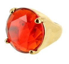 Gorgeous Kate Spade Solitaire Cocktail Statement Rare Red Crystal Ring S... - $125.99