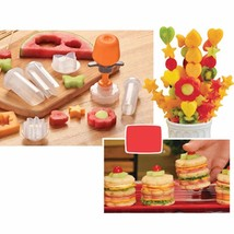 Creative Kitchen Accessories Cooking Tools Plastic Fruit Shape Cutter De... - €10,17 EUR