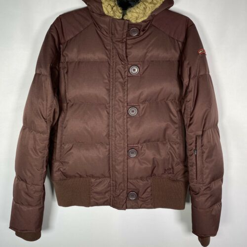 Primary image for Helly Hansen Women's Sz Medium Riders Of The Hill Maroon Hood Jacket Down Filler