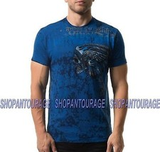 Affliction Wind Speed A20410 New Short Sleeve Fashion Graphic T-shirt For Men - $63.49