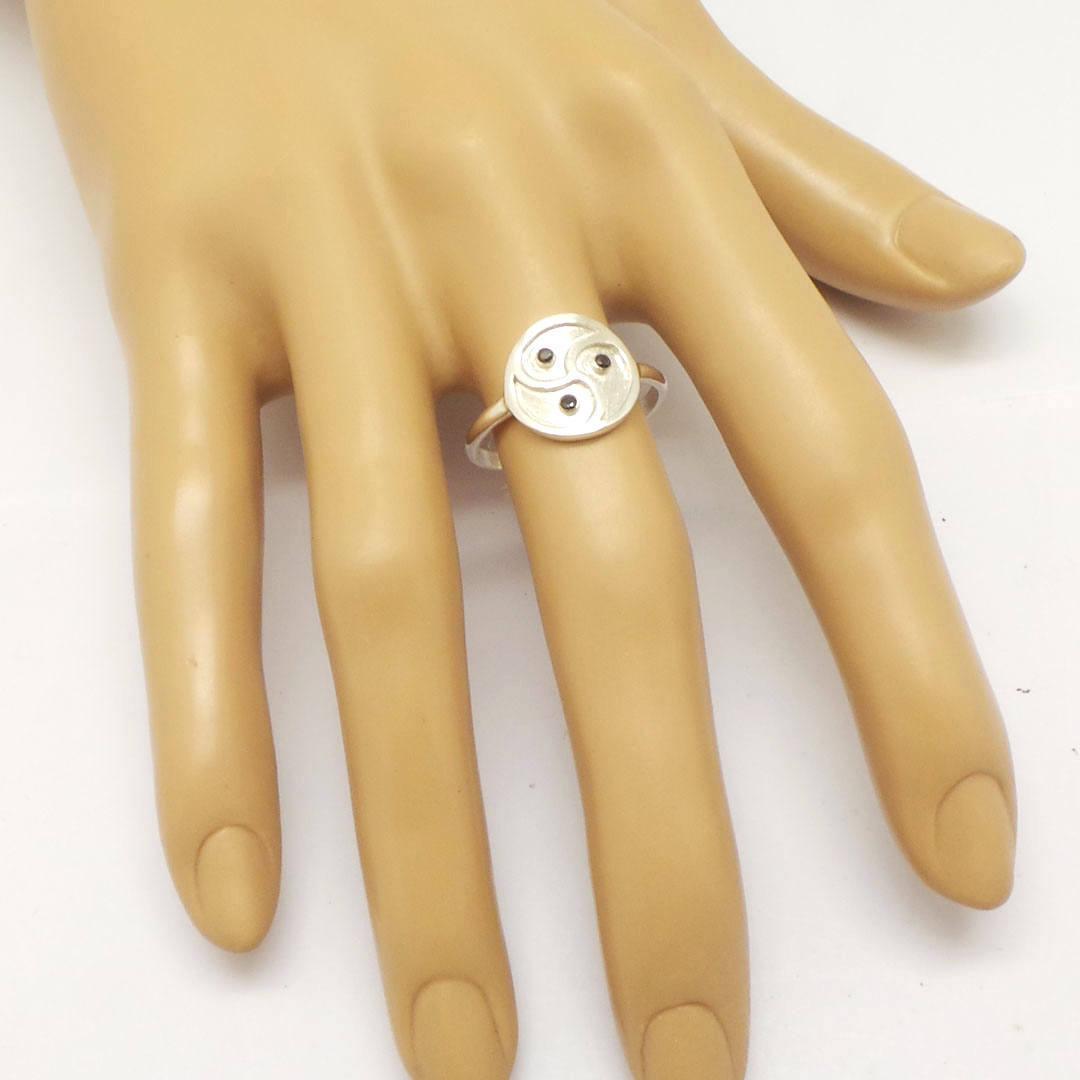Silver Bdsm Ring - Spiral Celtic Bdsm Jewelry