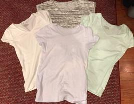 Lot Of 4 Kurzärmlig J.Crew und Ann Schneider Loft Hemden, Damen GRÖSSE XS - $14.94