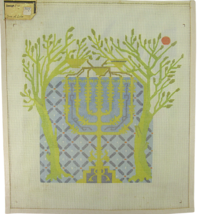 """Vintage 1970's Hand Painted Needlepoint Canvas """"815 Tree Of Life"""" 15.5"""" ... - $34.25"""
