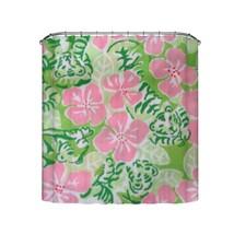 Popeven® Spring Pink Flower Shower Curtain Waterproof Fabric Environmental - $37.93