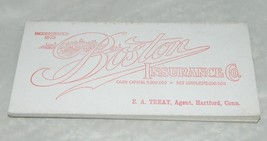 Antique 13 Piece Boston Insurance Company Business Card Advertising Ink ... - $26.73