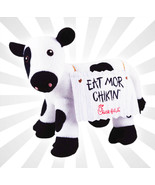 """Chick-fil-A Plush Cow Doll Toy Eat Mor Chikin 4"""" Tall LIMITED EDITION - $9.40"""