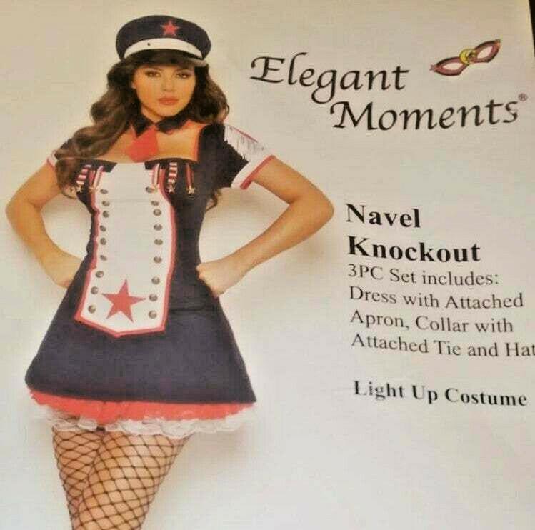 Sailor/'s Delight Anchor Print Dress Attached Collar Hat Costume Set Adult Women