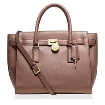 NWT MICHAEL KORS Hamilton Traveler Large Leather Dusty Rose Satchel Handbag - $314.00