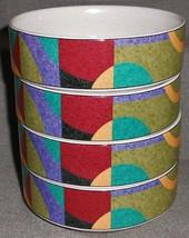Set (4) Studio Nova Impulse Pattern Cereal Or Dessert Bowls - $69.29