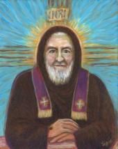 "PADRE PIO—Stigmata—11x14""—Catholic Art—Archival Print—Confirmation Gift - $23.95"