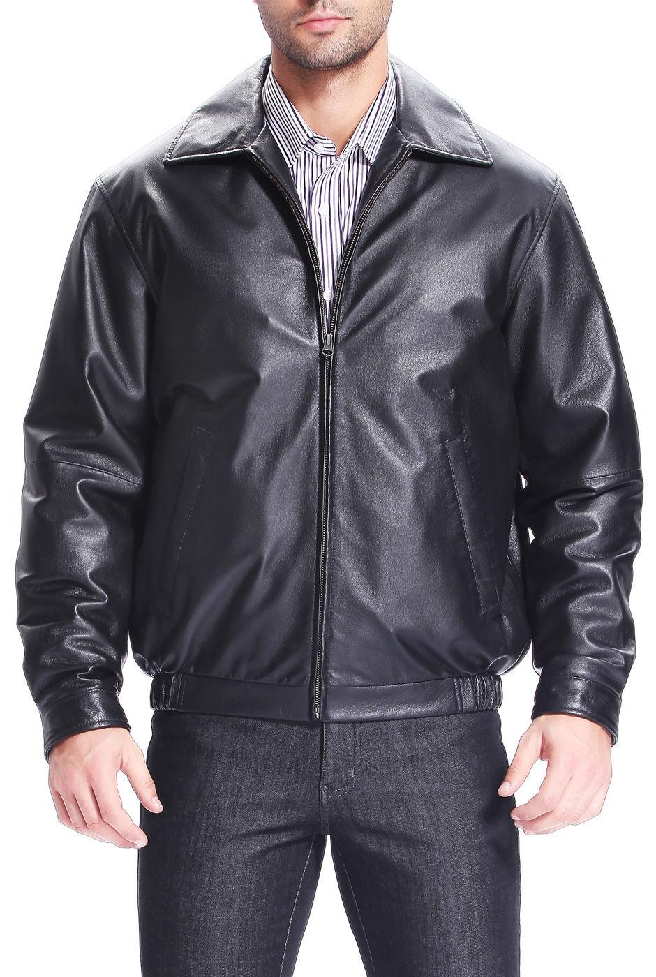 New Men's Stylish Lambskin Genuine Leather Motorcycle Biker Slim Fit Jacket  GN1