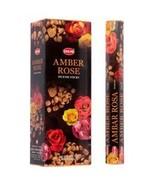 ABN Fashion Hem Amber Rose Sticks Incense Natural Fragrance Hand Rolled ... - $18.45