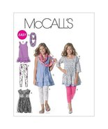 McCall's Patterns M6275 Girls'/Girls' Plus Dresses, Scarf and Leggings, Size GIR - $14.21