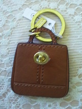 NWT/COACH/PARKER HANDBAG/TURNLOCK/BROWN/KEY FOB/KEY CHAIN/KEY RING/F65741 - $40.00