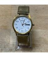 Vintage Gruen Men's Gold Color Watch, Date/Time, Runs, New Battery  - $30.00