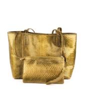 NWT Nancy Gonzalez ERICA Python + Crocodile Tote Metallic Authentic Green - $1,068.31