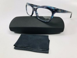 18ea5449c60 New Dolce Gabbana DD 1232 2551 Blue Marble Eyeglasses 53mm with Case  amp  .