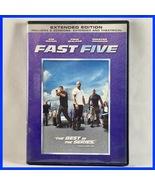 Used Fast Five Extended Version (DVD, 2011, Widescreen) Vin Diesel Paul ... - $2.00
