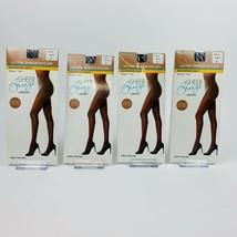 Gildan Ultra Sheer Breeze Nylon Pantyhose - Size C - Black Lot of 4.NEW ... - $15.40